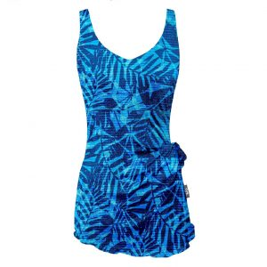 TYR Women's V-Neck Sarong One Piece Swimsuit
