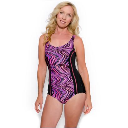 TYR Women's Glitch Aquatank One Piece Swimsuit