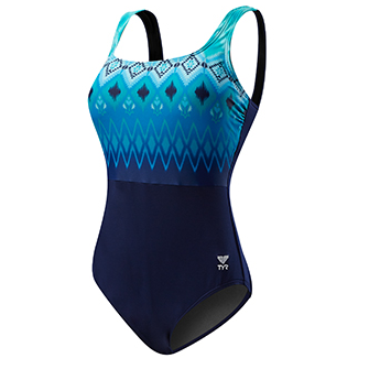 TYR Women's Baltic Stripe Aquatank w/ Adjustable Straps One Piece Swimsuit