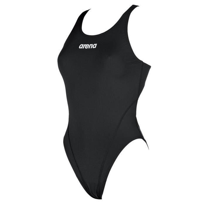 Arena Women's Solid Swim Tech High One Piece Swimsuit