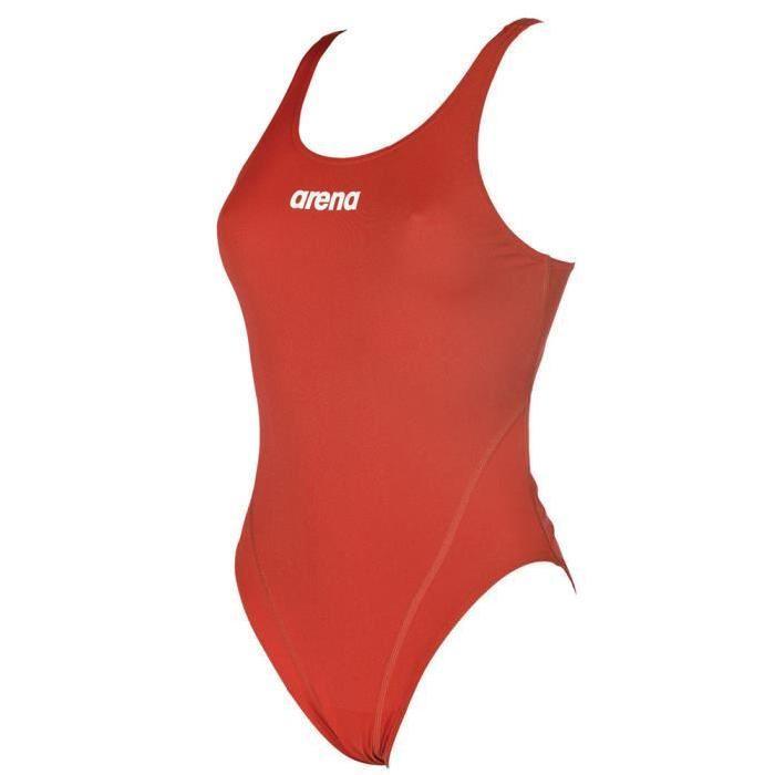 Arena Women's Solid Swim Tech High One Piece Swimsuit