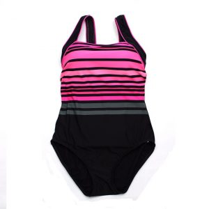 TYR Women's Ombre Stripe Square Neck One Piece Swimsuit