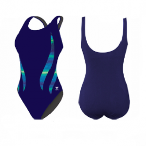 TYR Women's Tramonto Alliance Splice Aqua Tank One Piece Swimsuit