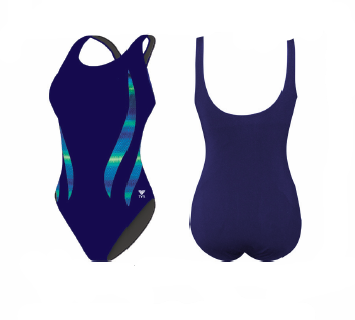 TYR Women's Tramonto Alliance Splice Aqua Tank One Piece Swimsuit