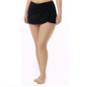 TYR Women's Solid Swim Skirt Swimsuit
