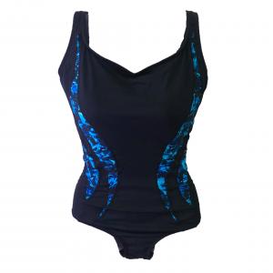 TYR Women's Blue Broken Glass Splice Aquatank One Piece Swimsuit