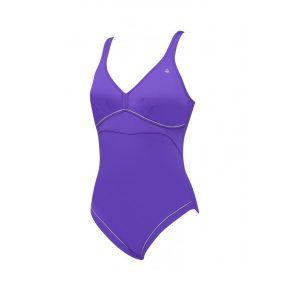 Aqua Sphere Women's Felicity Purple w/ Full Back One Piece Swimsuit - FINAL SALE