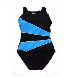 TYR Women's Diagonal Splice Clasped Back One Piece Swimsuit