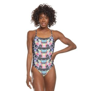 Speedo Women's Mosaic Maze Relay Back One Piece Swimsuit