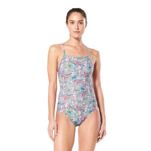 Speedo Women's Olive Turnz One Back Swimsuit