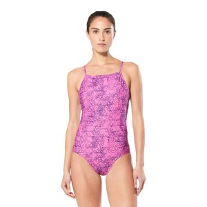 Speedo Women's Blush Pink Turnz Flashback Swimsuit