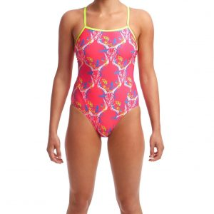 Funkita Women's Sweet Skulls Single Strap One Piece Swimsuit