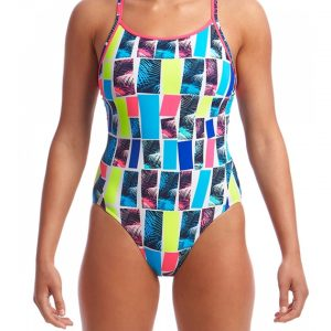 Funkita Women's Palm Bar Diamond Back One Piece Swimsuit