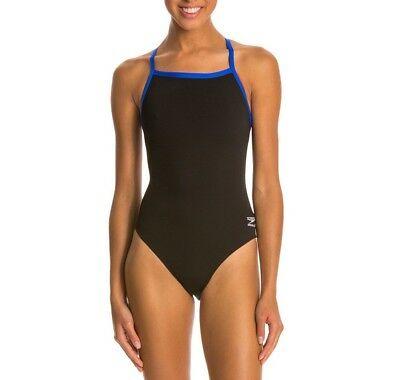 Speedo Women's Solid Flyback Endurance+ One Piece Swimsuit