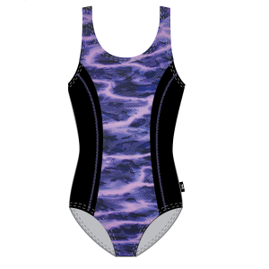 TYR Women's Lambent Aqua Tank Front Print One Piece Swimsuit