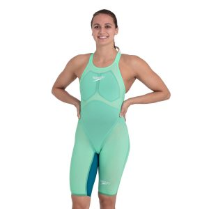 Speedo Women's Fastskin Pure Valor Green Glow Open Back Kneeskin