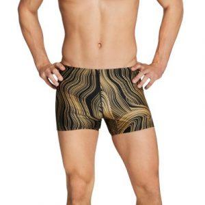 Speedo Men's Dripping in Gold Square Leg Swimsuit