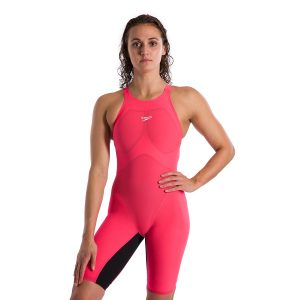 Speedo Women's Fastskin Pure Valor Red/Black Open Back Kneeskin