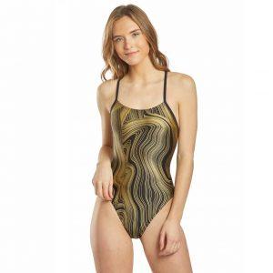 Speedo Women's Dripping in Gold One Piece Swimsuit