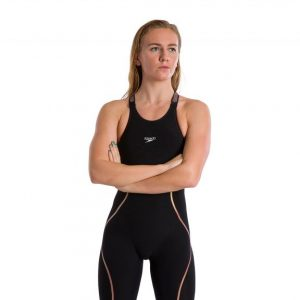 Speedo Women's Fastskin Pure Intent Black/Rose Gold Closed Back Kneeskin