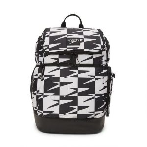 Speedo Black and White Printed Teamster 2.0 Swim Backpack
