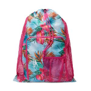 Speedo Tropical Floral Printed Deluxe Ventilator Swim Mesh Bag