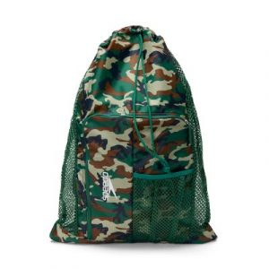 Speedo Camo Green Deluxe Ventilator Swim Mesh Bag