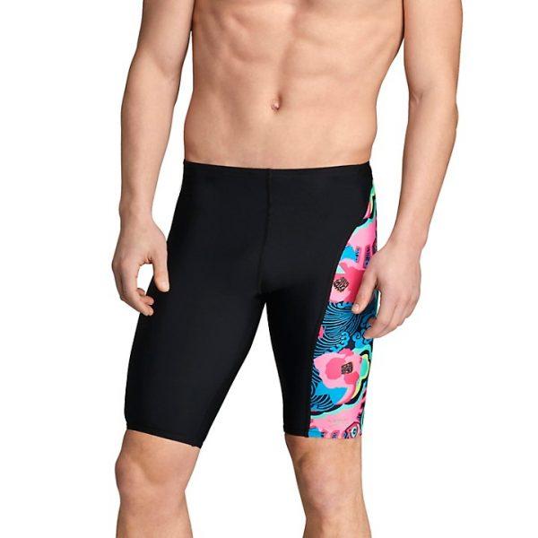 Speedo Men's Blue/Pink Spliced Jammer Swimsuit