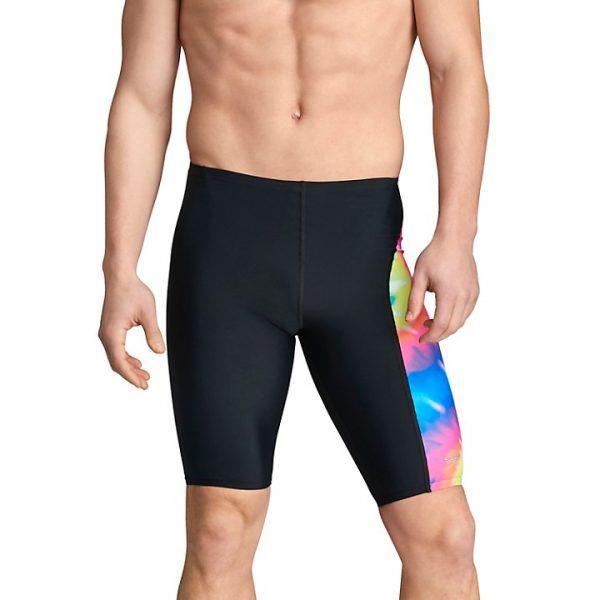 Speedo Men's Multi Tie Dye Spliced Jammer Swimsuit