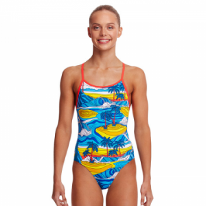 Funkita Girl's Beach Bum Diamond Back One Piece Swimsuit