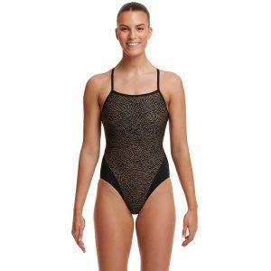 Funkita Women's Leather Skin Single Strap One Piece Swimsuit