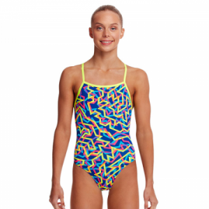 Funkita Girl's Noodle Bar Strapped In One Piece Swimsuit