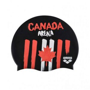 Arena Canada Flag Silicone Swim Cap