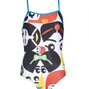 Arena Girl's Asami Jr Light Drop Back One Piece Swimsuit