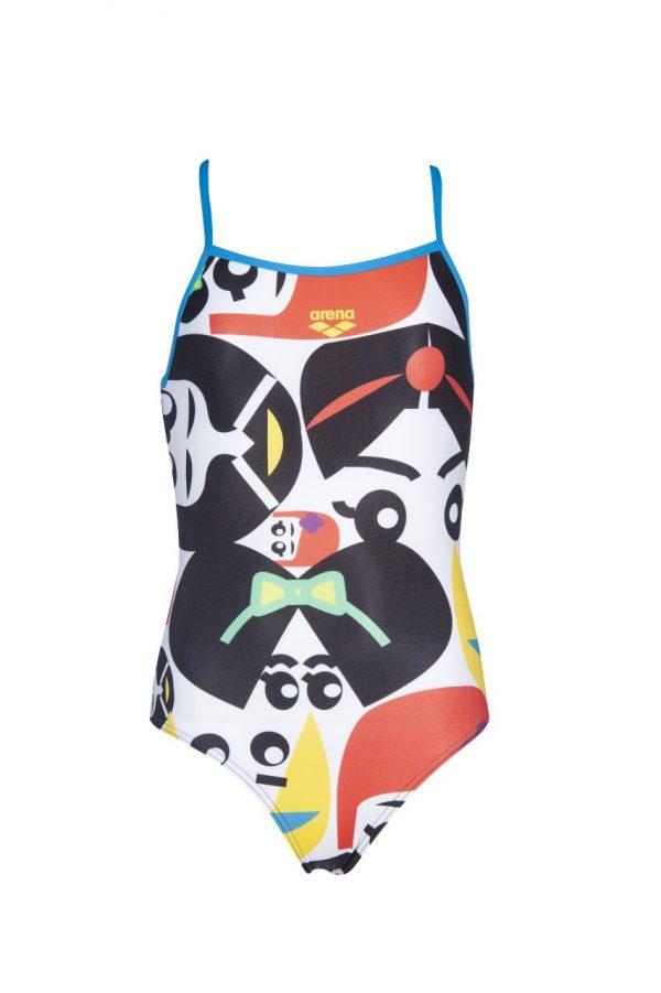 Arena Girl's Asami Jr Light Drop Back One Piece Swimsuit