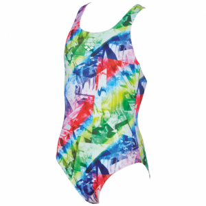Arena Girl's Glitch Jr One Piece Swimsuit