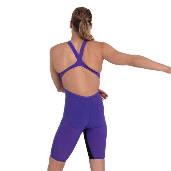 Speedo Women's Fastskin Pure Valor Ultra Violet Open Back Kneeskin