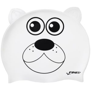 Finis Animal Heads Polar Bear Jr. Silicone Swim Cap