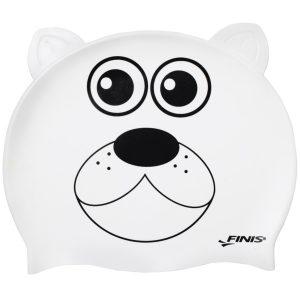 Finis Animal Heads Polar Bear Jr. Silicone Swim Cap