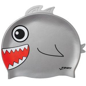 Finis Animal Heads Shark Jr. Silicone Swim Cap