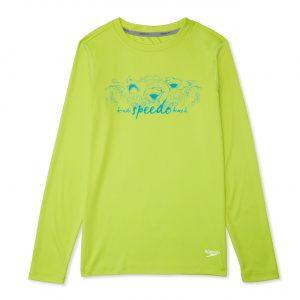 Speedo Boy's  Long Sleeve Graphic Shark Swim Shirt