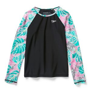 Speedo Girl's Long Sleeve Tropical Rashguard