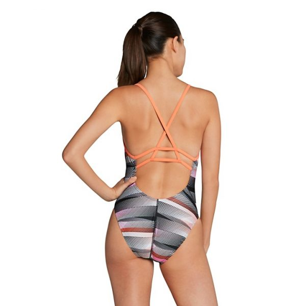 Speedo Women's The Fast Way Strappy Crossback One Piece Swimsuit