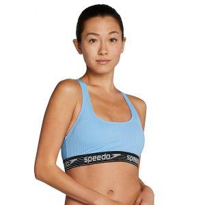 Speedo Women's Stripe Rib Logo Bikini Top