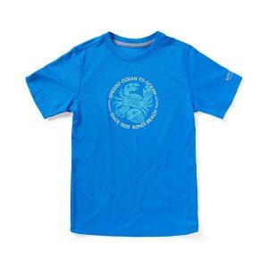 Speedo Boy's Short Sleeve Ocean to Ocean Swim Shirt