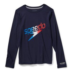 Speedo Boy's Long Sleeve Graphic Swim Shirt