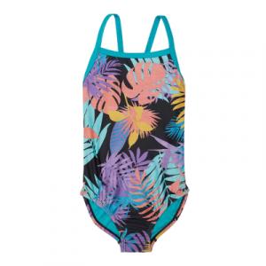 Speedo Girl's Tropical Print Propel Back One Piece Swimsuit