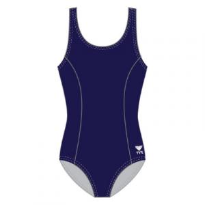 TYR Women's Solid Aqua Tank One Piece Swimsuit