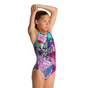 Arena Girl's Crazy Jr. Light Drop One Piece Swimsuit