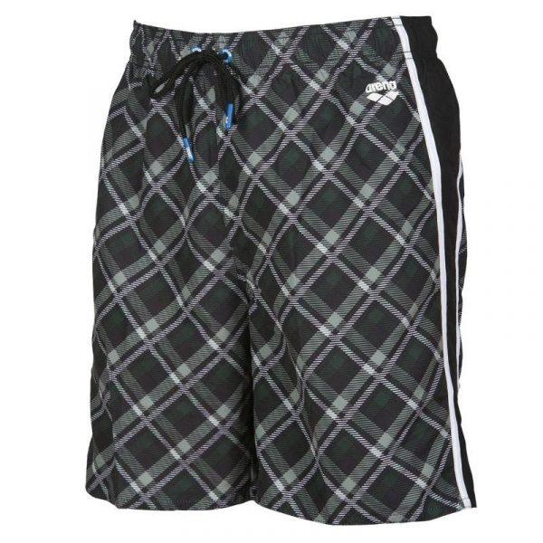 Arena Men's Printed Check Bermuda Swim Shorts